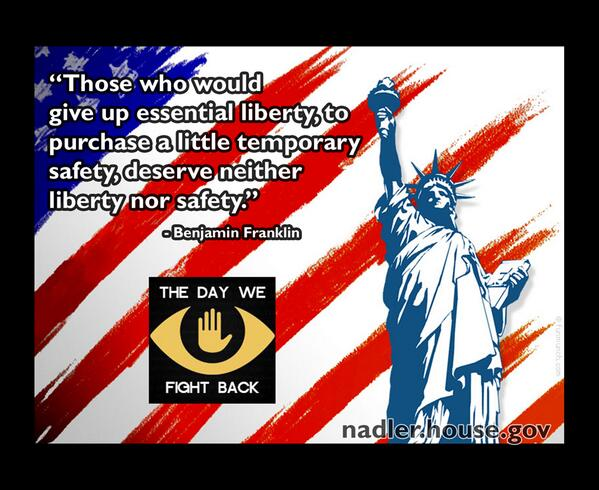 Support the USA Freedom Act. #StopTheNSA bulk surveillance. http://t.co/IPjNGeTFXH