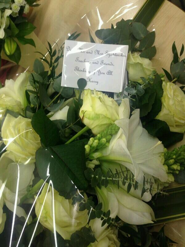 Harry sent magda's family flowers im sorry but if he isnt the sweetest person ever I dont know who is http://t.co/loekKN1x8d