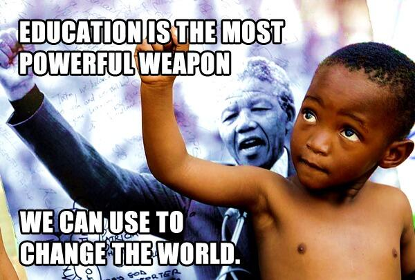 Education is the most powerful weapon which you can use to change the world. Nelson Mandela http://t.co/NBpsvfDgBC … http://t.co/2G5JgNwmDJ