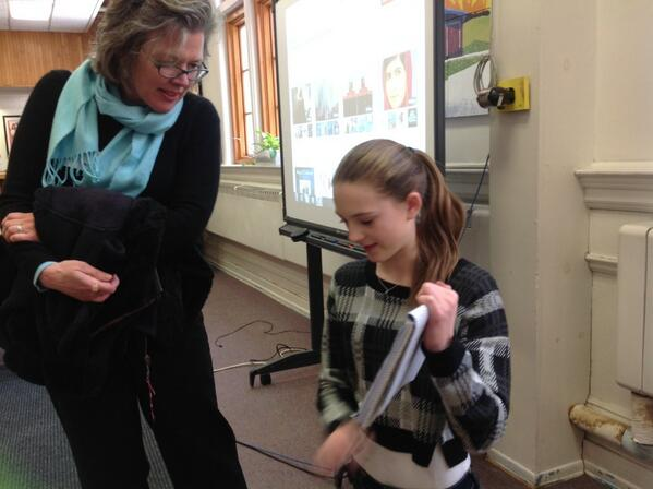 The motion-capture demonstration was part of EMS speed-geeking: ss teaching visitors a new tech item #vted http://t.co/r2sfCndkBK