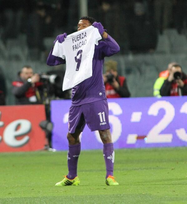 Colombian winger Juan Cuadrado dedicated his blockbusting strike for Fiorentina v Udinese to Radamel Falcao