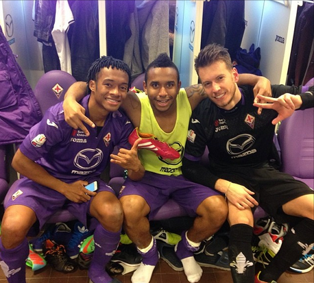 A trim looking Anderson posts celebratory pic from Fiorentina dressing room after qualifying for Coppa Italia final