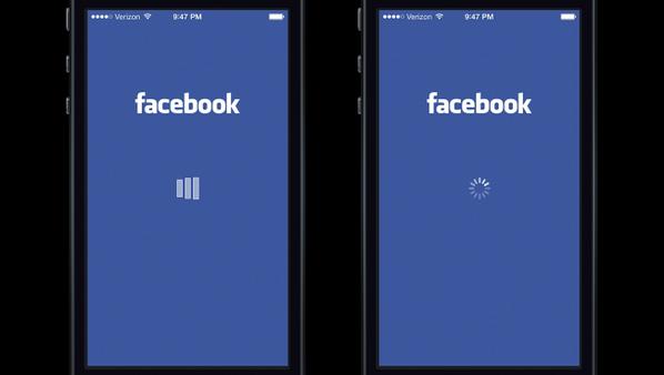 ローディングアニメーション一つで印象は左右される。待つことのストレスが、左はFacebookのせいになったが、右はiOSのせいになった。 http://t.co/E2few4zfsf http://t.co/qzY65XlWg2