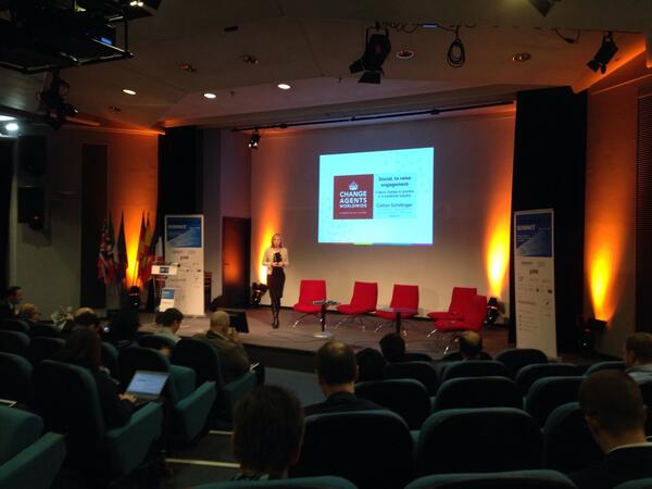 A true change agent @CelineSchill on stage at #e20s in Paris. http://t.co/SOWwkIYx9P
