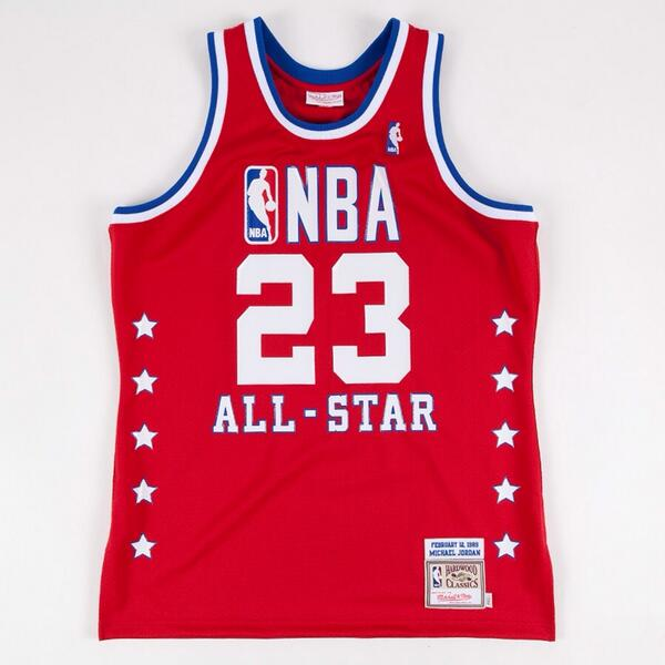 """"""" darrenrovell  First MJ retro Mitchell   Ness will sell is 1989 All-Star  jersey 0c6f4628b"""