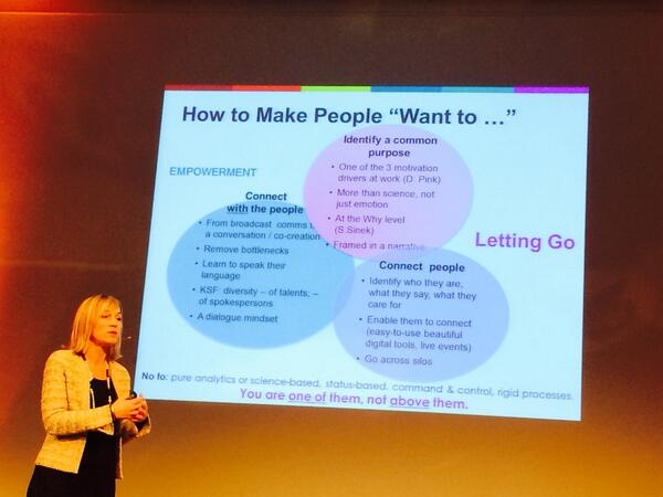 Managers, you are NOT above the ignorant staff but with them, you connect people and with people @CelineSchill #e20s http://t.co/Qblk6awEtR