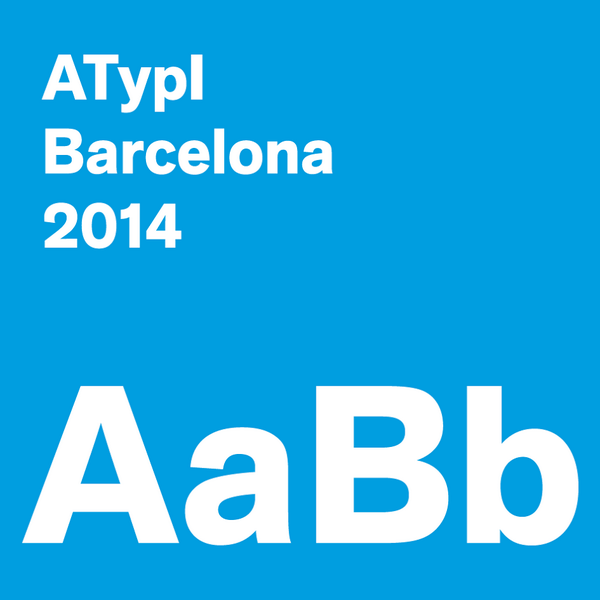 Invitation to our annual type conference: ATypI Barcelona: 17–21 September 2014 See http://t.co/Vc4PXlTohy http://t.co/R3fNVU0GZg