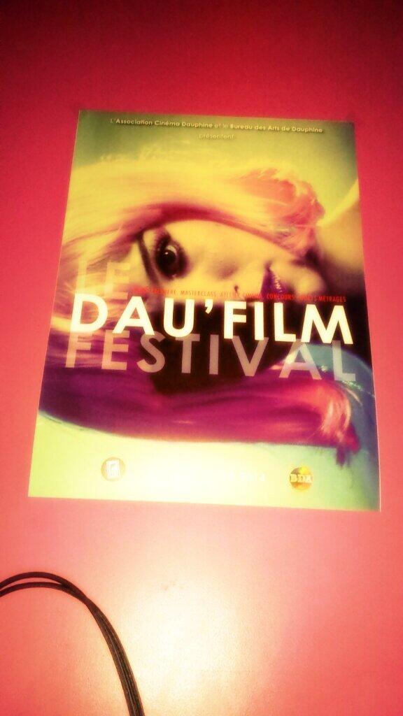 Dau'film, festival de courts métrages #dauphine #hipster #CinemaUnderground #mainstreampourlesbolosses http://t.co/WhNlOcmuhS
