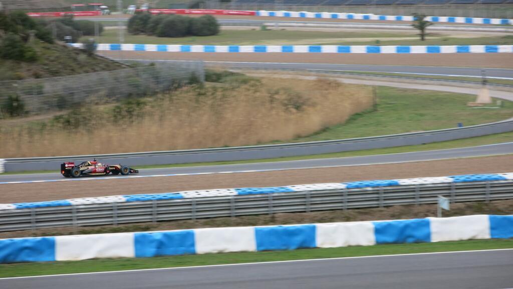 Pastor Maldonado au volant de la Lotus E22 à Jerez, 7 et 8 février 2014