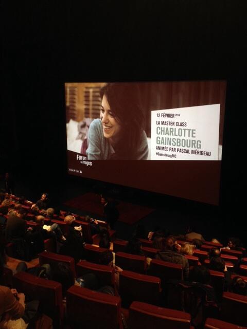 #GainsbourgMC : on est dans la place, la salle est presque bondée. Manque plus que Charlotte au @forumdesimages http://t.co/mLTaPlfiFs