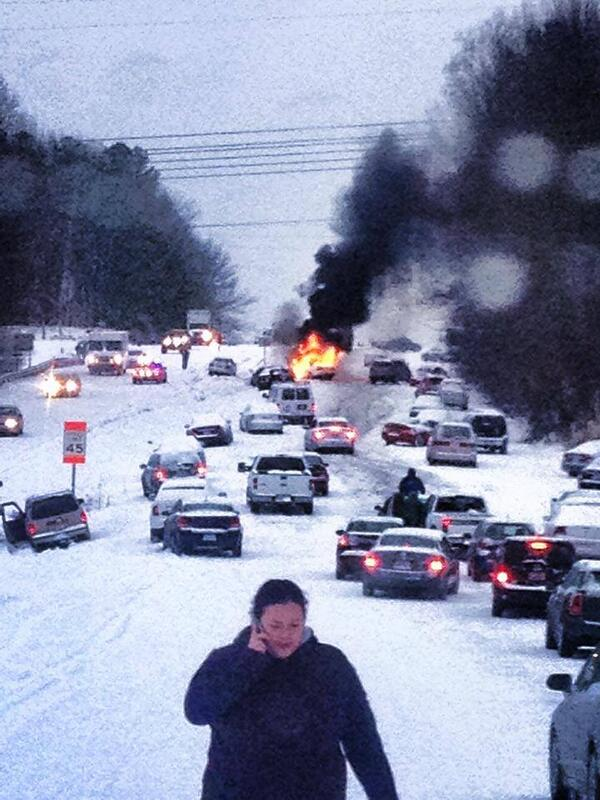 Jesus!!! RT @Sean_Breslin: Raleigh does a Snowpocalypse even crazier than Atlanta (via @beerandracing, @Irisheagle):  http://t.co/OGwq64slaj
