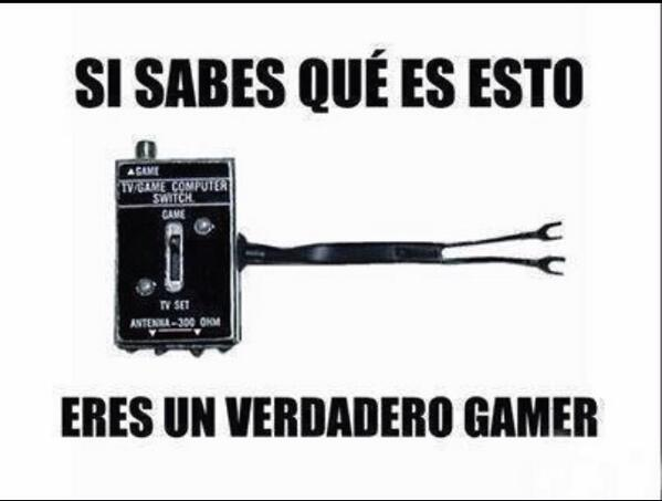 Si sabes qué es esto, eres un verdadero #Gamer :D http://t.co/iuNPQkYV04