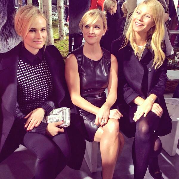 Diane, Reese & Gwyneth at @jasonwustudio for @hugoboss  Photo by #NMinsider @bagsnob @snobessentials #NYFW #NMatNYFW http://t.co/KQ7DqRJbhY