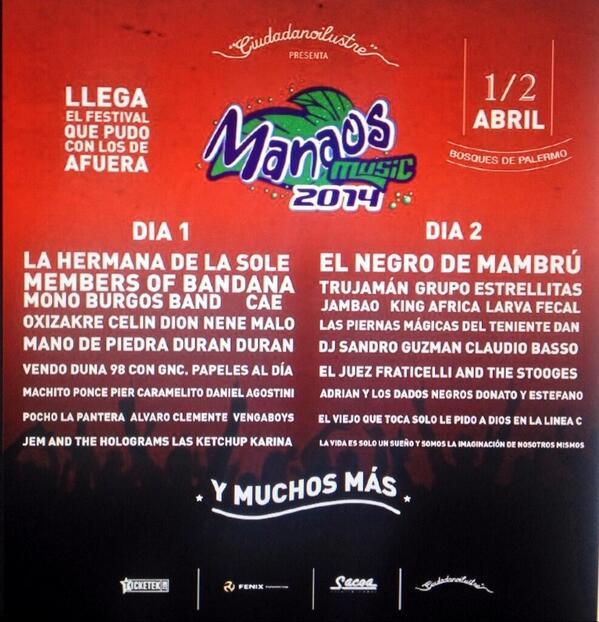 Llega el Manaos Music 2014!