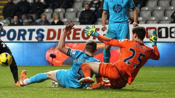 Hugo Lloris 3 fine saves for Spurs at Newcastle on 1 Vine video