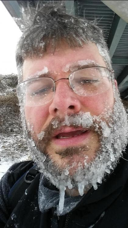 Brr! RT @RecordsGeek: Check out this guy's face. Steven Hilton of Raleigh tells @WRAL he walked 7 miles to get home. http://t.co/ElMppzuWgH
