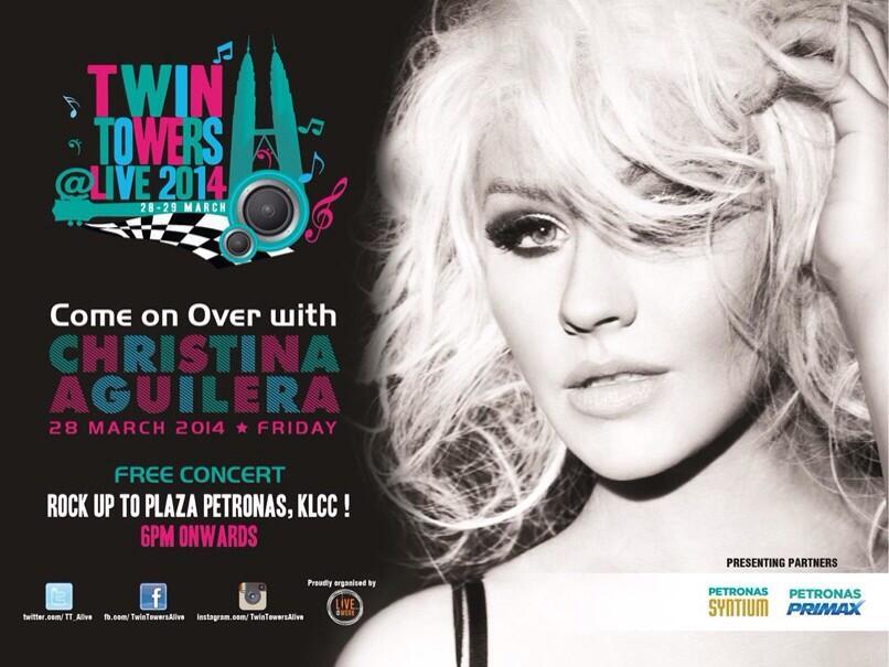 Christina Aguilera Actuará en Festival de Malasia BgUppEzCQAAMKN0