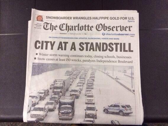 """@dondrennon: Tomorrow's front page: #CLT http://t.co/15r2E4wLHZ"