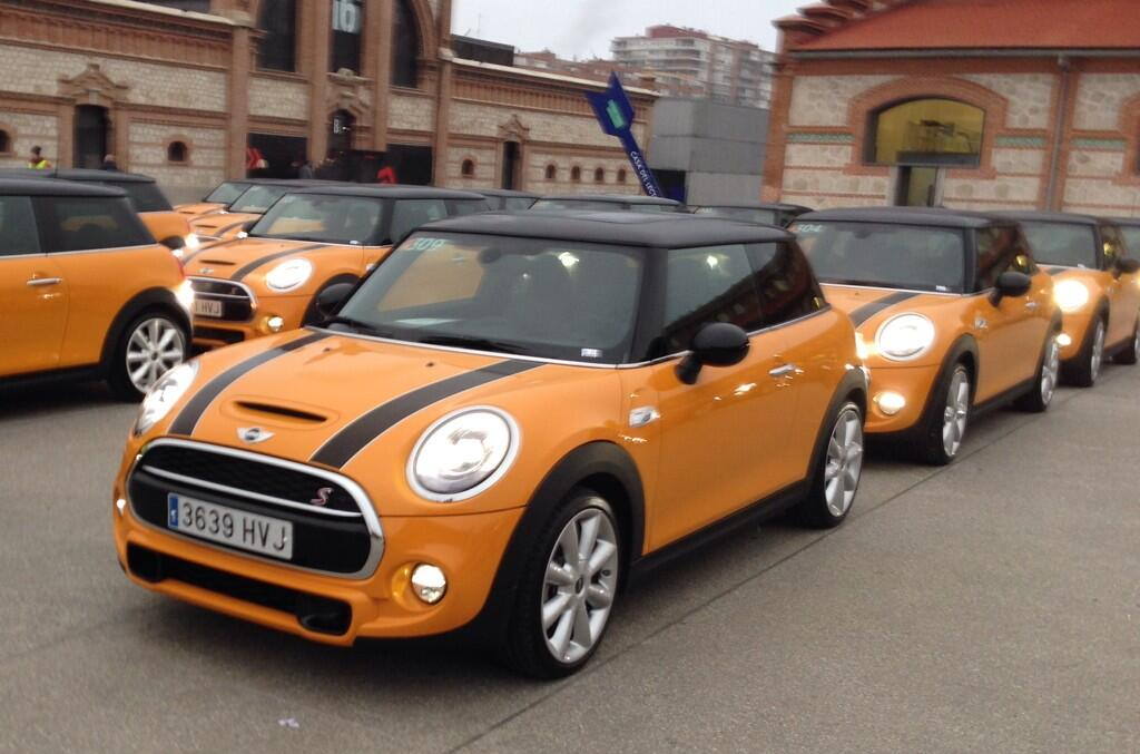 cooper mini on twitter the new f56 in new volcano orange order your new 14 plate. Black Bedroom Furniture Sets. Home Design Ideas