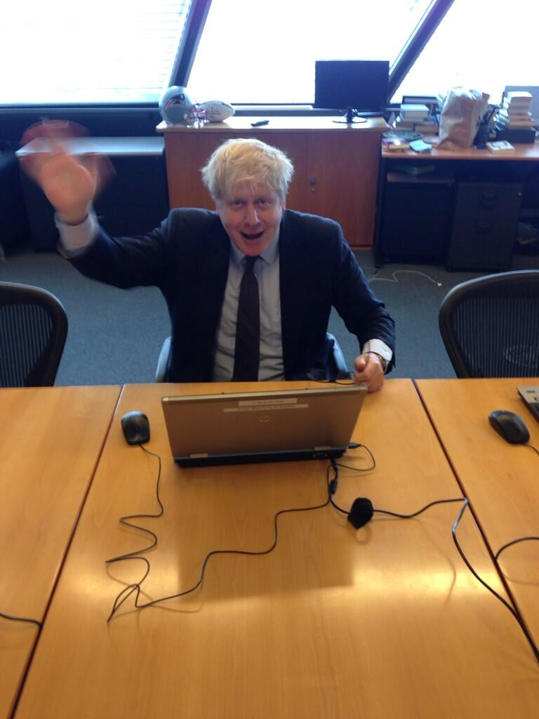 Ready for your questions now folks! Let's get cracking! #AskBoris http://t.co/ZaeQNkGalx