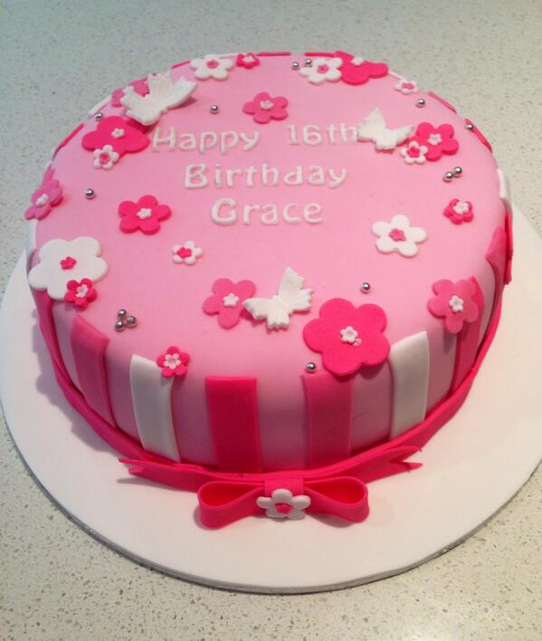Awe Inspiring Any Excuse Cakes On Twitter Happy 16Th Birthday Grace T Personalised Birthday Cards Veneteletsinfo