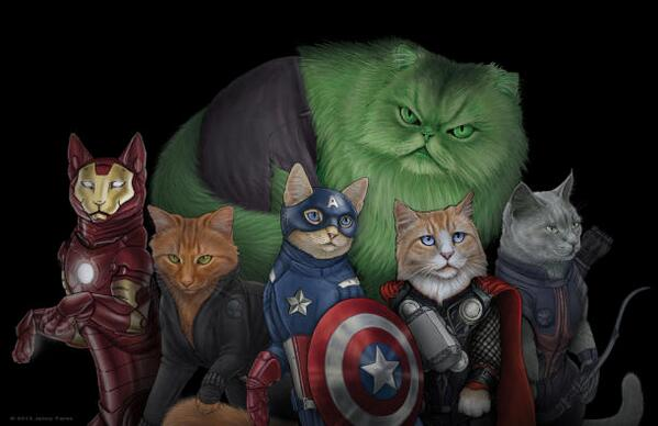 Meow! Artist reimagines Spock, Sherlock, Time Lords, and Avengers as cats http://t.co/hLnYNCSkSh http://t.co/6JnaMRwr4B