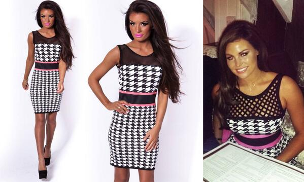 Pink Boutique On Twitter Go Hot Mono With This Fab Mini Dress As
