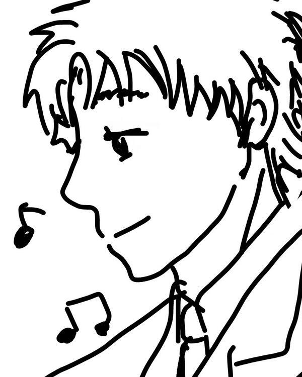 鳳、誕生日おめでとう。 最初に描いてみせた絵をツイッターに使うと言ったら「ひどいよ日吉~!」って半泣きだったからな、お前がピアノ弾いてる間に横でちゃんとしたの描いてやった。 週末樺地と三人でお前の誕生日祝いするから予定あけておけよ。 http://t.co/myZYEFgseR