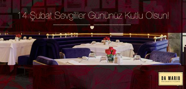 Aşkınızı #DaMarioKalamış'ta romantik bir akşam yemeğiyle taçlandırın. 14 Şubat Sevgililer Gününüz kutlu olsun. http://t.co/FHt7fbFsq5
