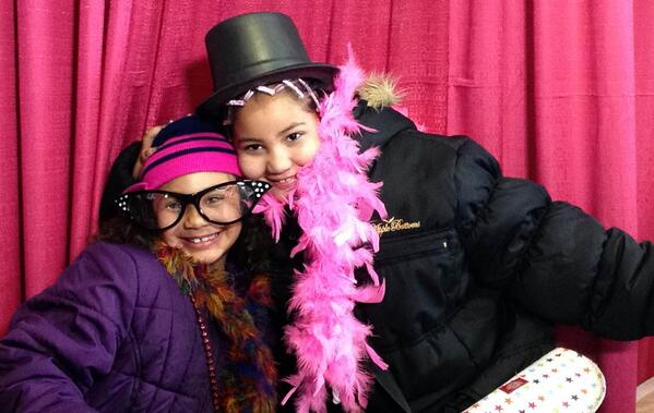 Grace and Faith Jones at the #wkddradiothon photo booth. http://t.co/ZK6iIBxNuF