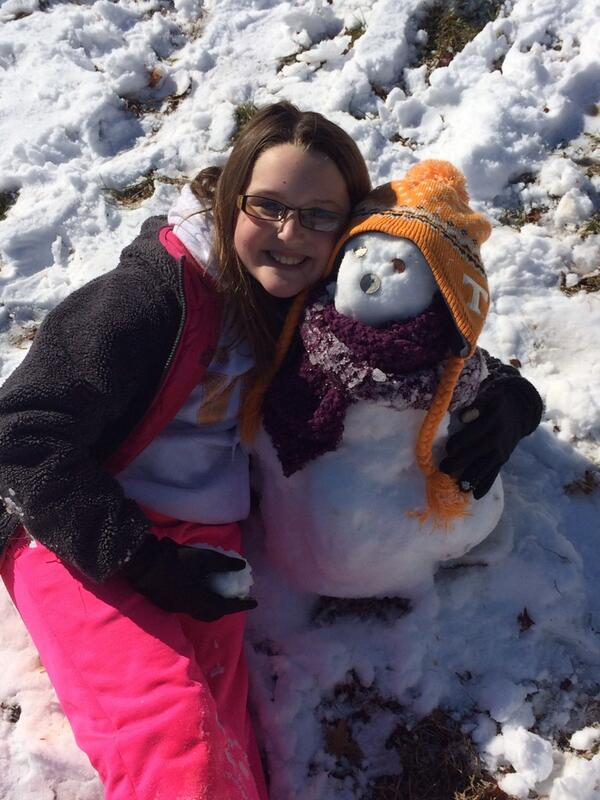Two Vol Fans! :) @Vol_Football #snowday http://t.co/VIFvrwV42U