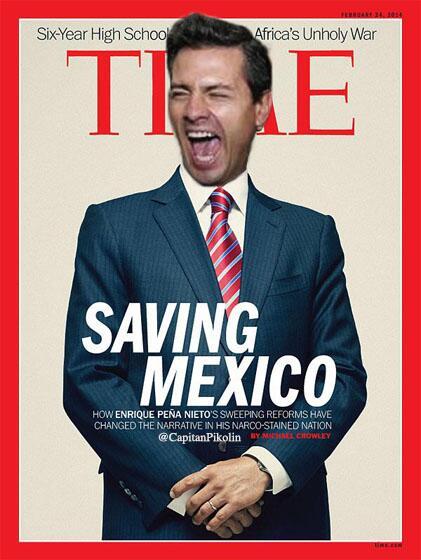 Burlas en redes sociales por la portada de 'Time' dedicada a Peña Nieto