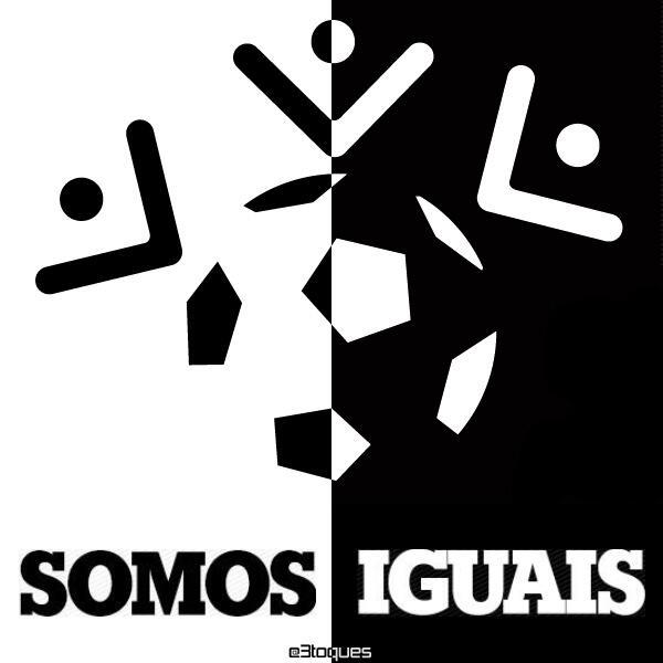 Nós, do @3toques, apoiamos a luta contra o racismo! \o/ #SomosIguais #FechadoComOTinga http://t.co/BMSuPjWnQB