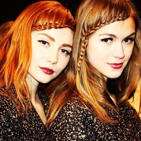 Loving the front braids @nanettelepore #nyfw @stilacosmetics hair @beautydotcom @t3micro @alternahaircare #fonyfw http://t.co/VtBLzUIqMy