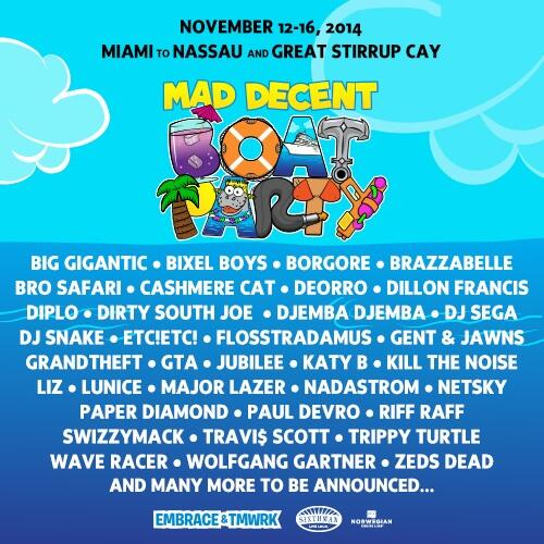 MAD DECENT BOAT PARTY! ⚓️ come cruise with us... http://t.co/ozBcFFuA52