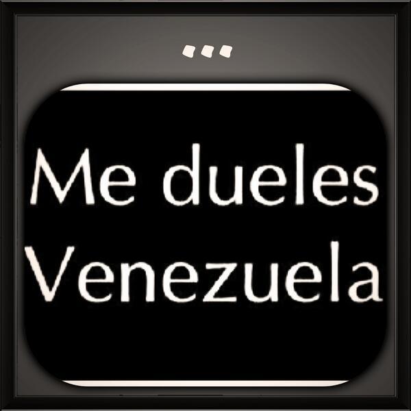 Muy triste por la situación de mi amada VENEZUELA... Que dolor siento! http://t.co/fWzTVfPume
