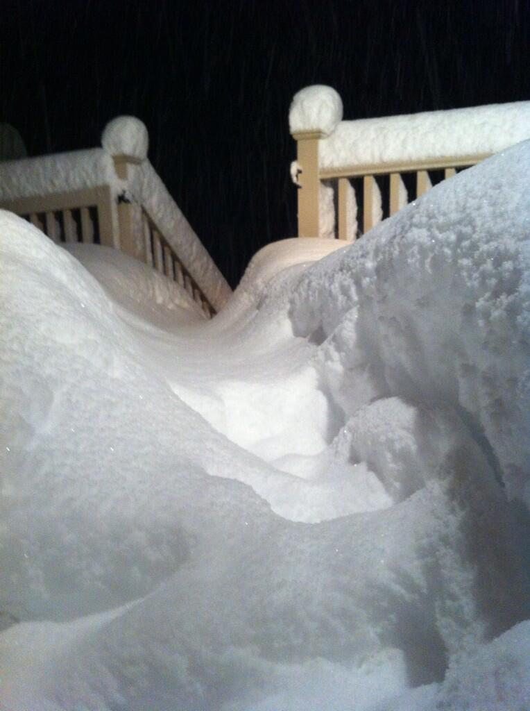 Twitter / JustinWeather: 9 inches of snow in 3 hours! ...