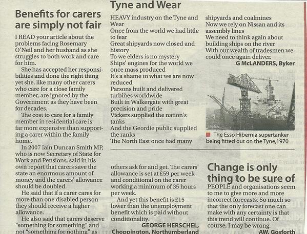 Benefits for #carers are simply not fair @EveningChron @CarersUK @CarersTrust http://t.co/Pl1eEUjiLg