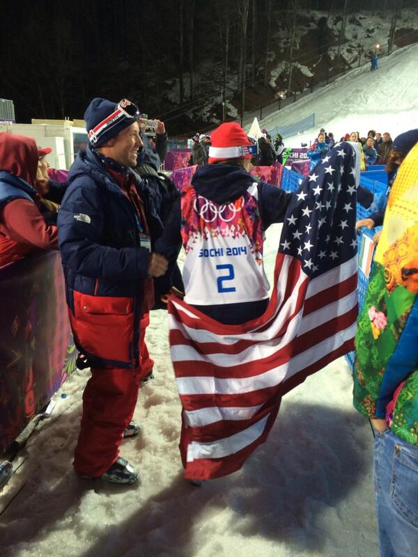 Cool shot of USA's newest Gold Medalist: Maddie Bowman http://t.co/bd9qHQuW9A