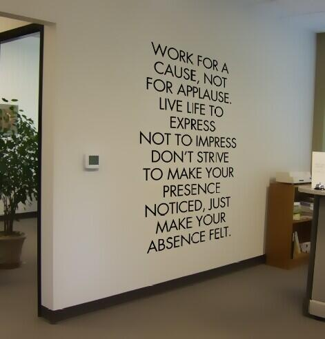 Twitter / paigescox1: Inspiring office beliefs on ...