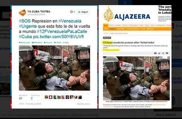 Fascistas venezolanos desinforman para generar caos desde las redes http://t.co/cgXYVJaKgI #VzlaUnidaContraElFascismo http://t.co/yH35lNnr2a