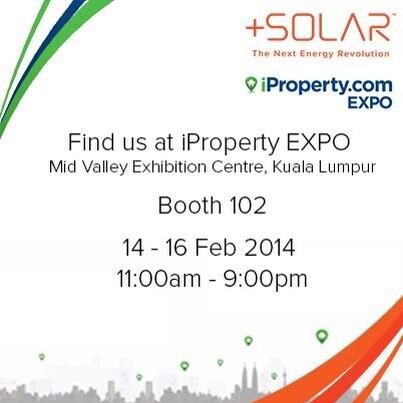 Visit us at iProperty EXPO in Mid Valley Exhibition Centre from 14-16 Feb, 11am-9pm. #solar #rooftop #investment http://t.co/DejBlIe5Fx