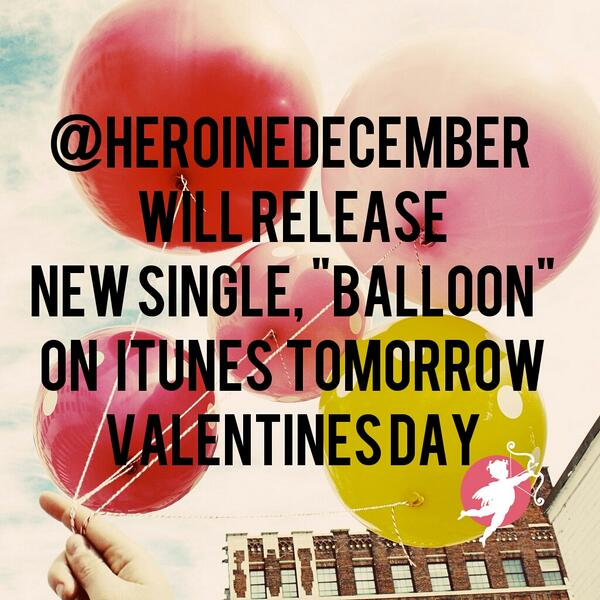 """We are so excited to share our 1st official single from our EP """"Balloon"""" thank you for your endless love and support! http://t.co/htzcJZtMv9"""