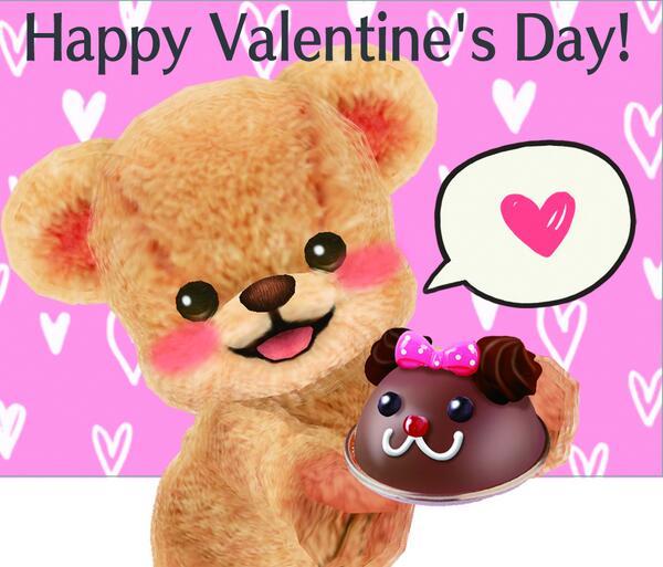 クマトモと、いつも遊んでくれて、ありがとうなの。あのね…今日はバレンタインだし言っちゃいます……大スキなの!これからも、一緒にいてくれたら、うれしいです。
