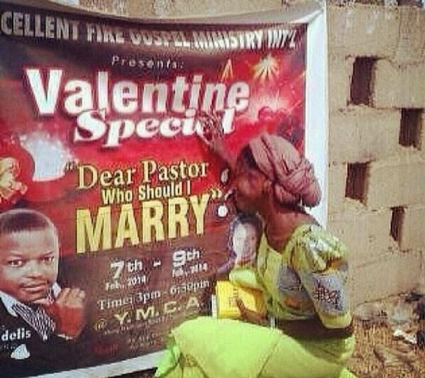 "Excellent Fire Gospel Ministry International presents :  A Valentine Special, ""Dear Pastor Who Should I Marry?""  😂😂 http://t.co/wpEnE57UyI"