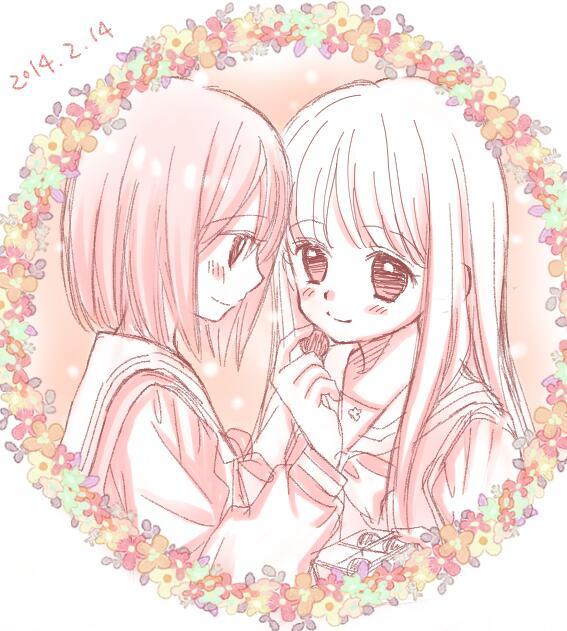 バレンタインらくがきー久々に初美とさくらヽ(´▽`)ノ http://t.co/nziCrv4y3w