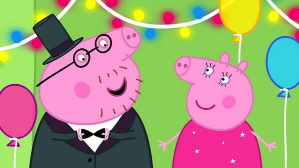 """@PeppaPigUK: Happy Valentine's Day, everyone! Get yer gladrags on, let's  go out for dinner! #PeppaPig pic.twitter.com/AQ6Xg1ZITg"" @Joninwhite"