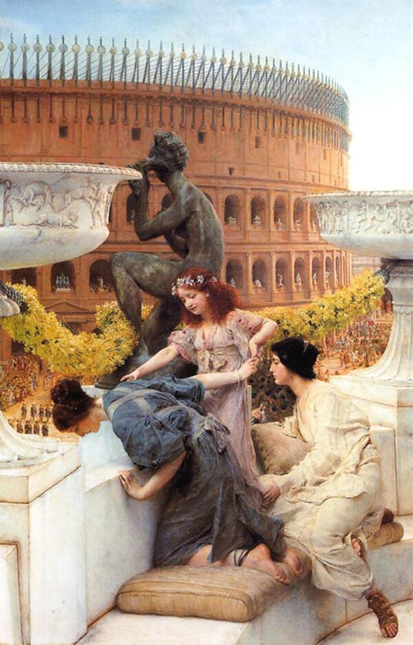 #art Sir Lawrence Alma-Tadema: The Colosseum (1896), oil on wood (112 x 73.6 cm), private collection, USA http://t.co/drLq4uarYq