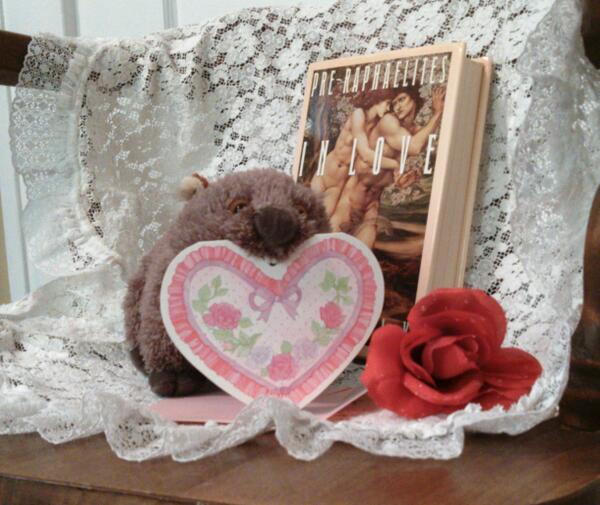 Lady MacWombat wishes a wonderful #wombatfriday Valentine's Day to her fellow wombats and their admirers everywhere! http://t.co/WTjRQlq56A