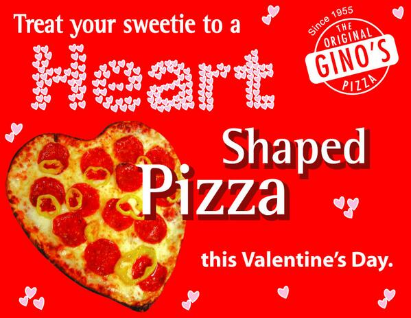 Original Ginos Pizza On Twitter Happy Valentine S Day Treat
